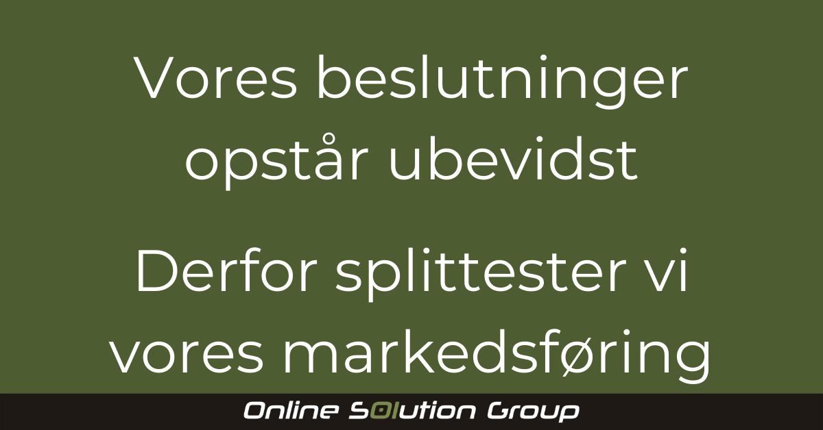 Hvorfor splitteste i markedsføring?