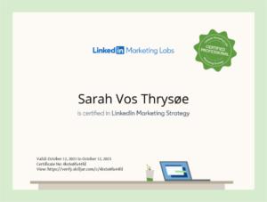 LinkedIn Marketing Strategy certifikat
